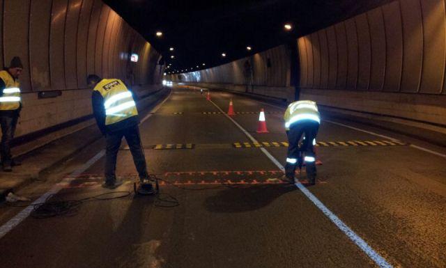Bandas Reductoras de Velocidad en Tunel de la Rovira de Barcelona - Imagen 3