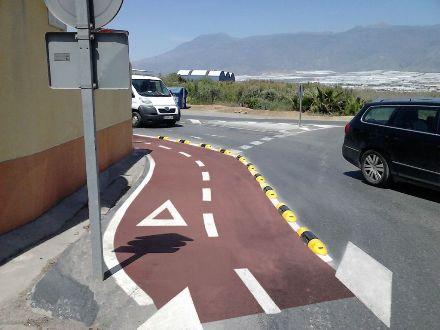 Instalación de tramo de carril bici en El Ejido - Imagen 3